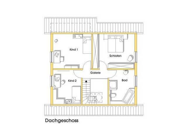 Haus Kathrin Grundriss Obergeschoss