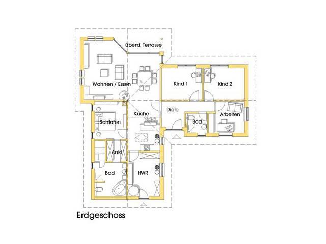 Haus Natalie Grundriss Variante Erdgeschoss 1