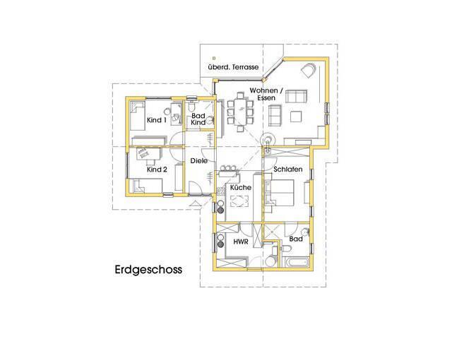 Haus Natalie Grundriss Erdgeschoss Variante 2
