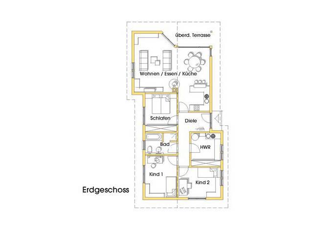 Haus Natalie Grundriss Erdgeschoss Variante 3