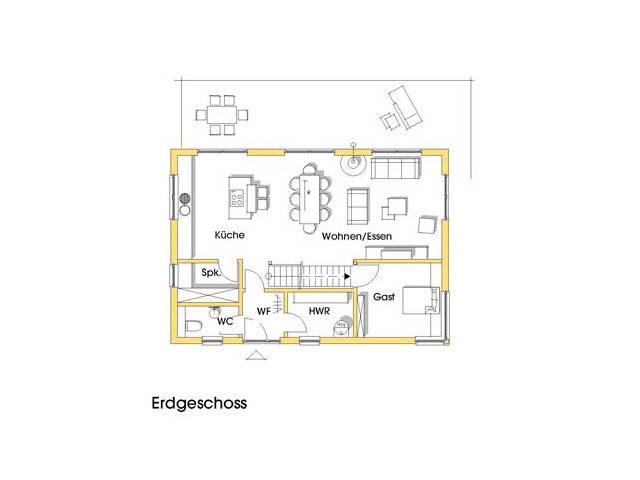Haus Petra Grundriss Erdgeschoss