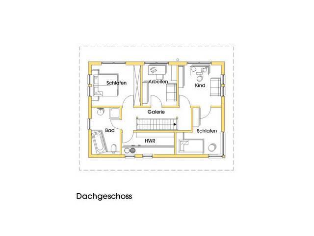 Haus Petra Grundriss Obergeschoss