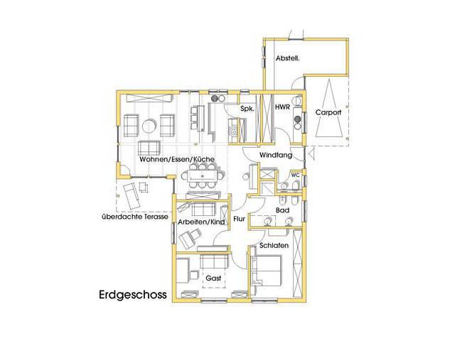Haus Rosi Grundriss Erdgeschoss