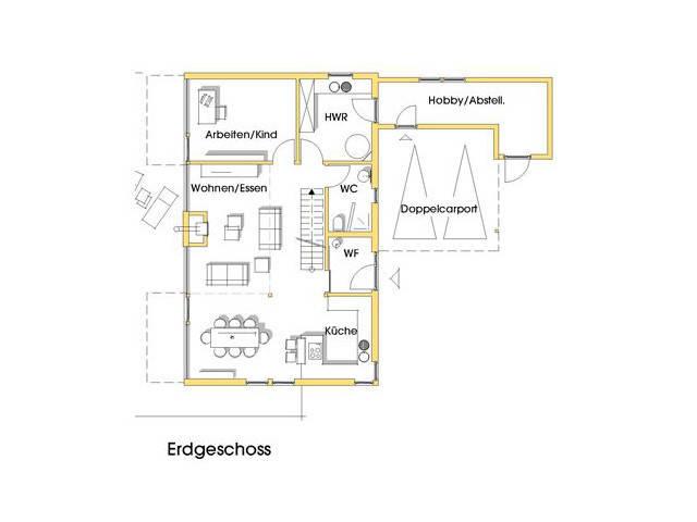 Haus Sabine Grundriss Erdgeschoss