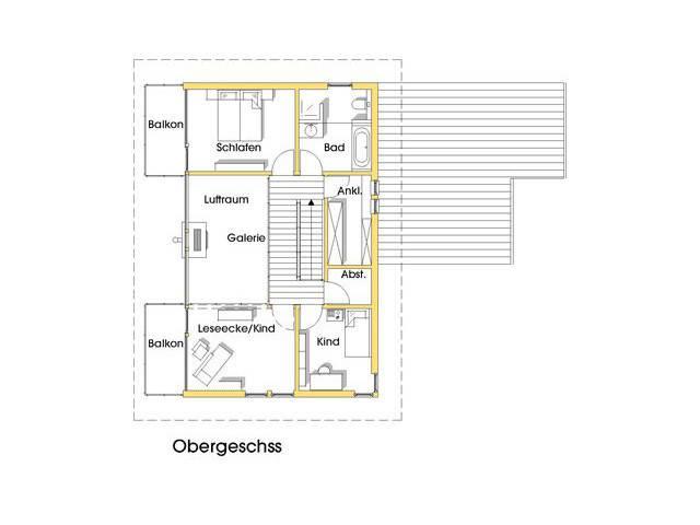 Haus Sabine Grundriss Obergeschoss