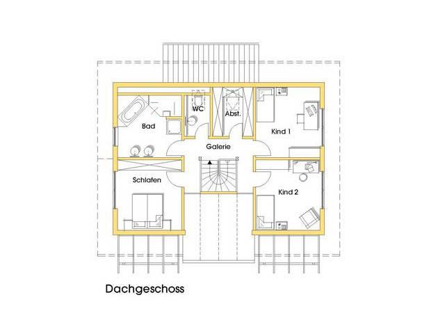 Haus Stefanie Grundriss Obergeschoss