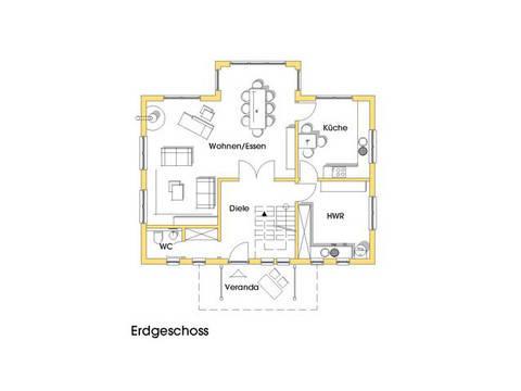 Haus Svanhild Grundriss Erdgeschoss Variante 1