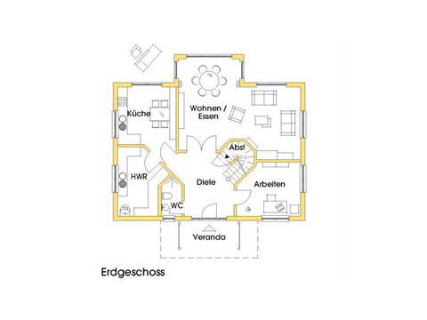 Haus Svanhild Grundriss Erdgeschoss Variante 2