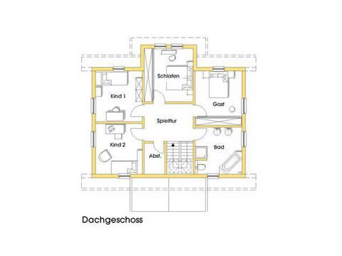 Haus Svanhild Grundriss Obergeschoss Variante 1