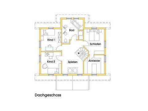 Haus Svanhild Grundriss Obergeschoss Variante 2