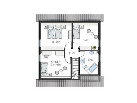 Haus BasicLine 123-1-6 Grundriss DG