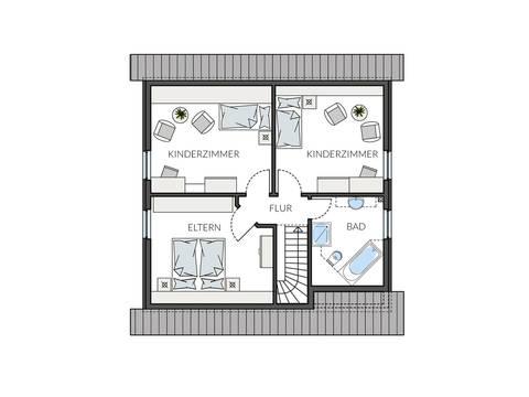 Haus BasicLine 133-1-1 Grundriss DG