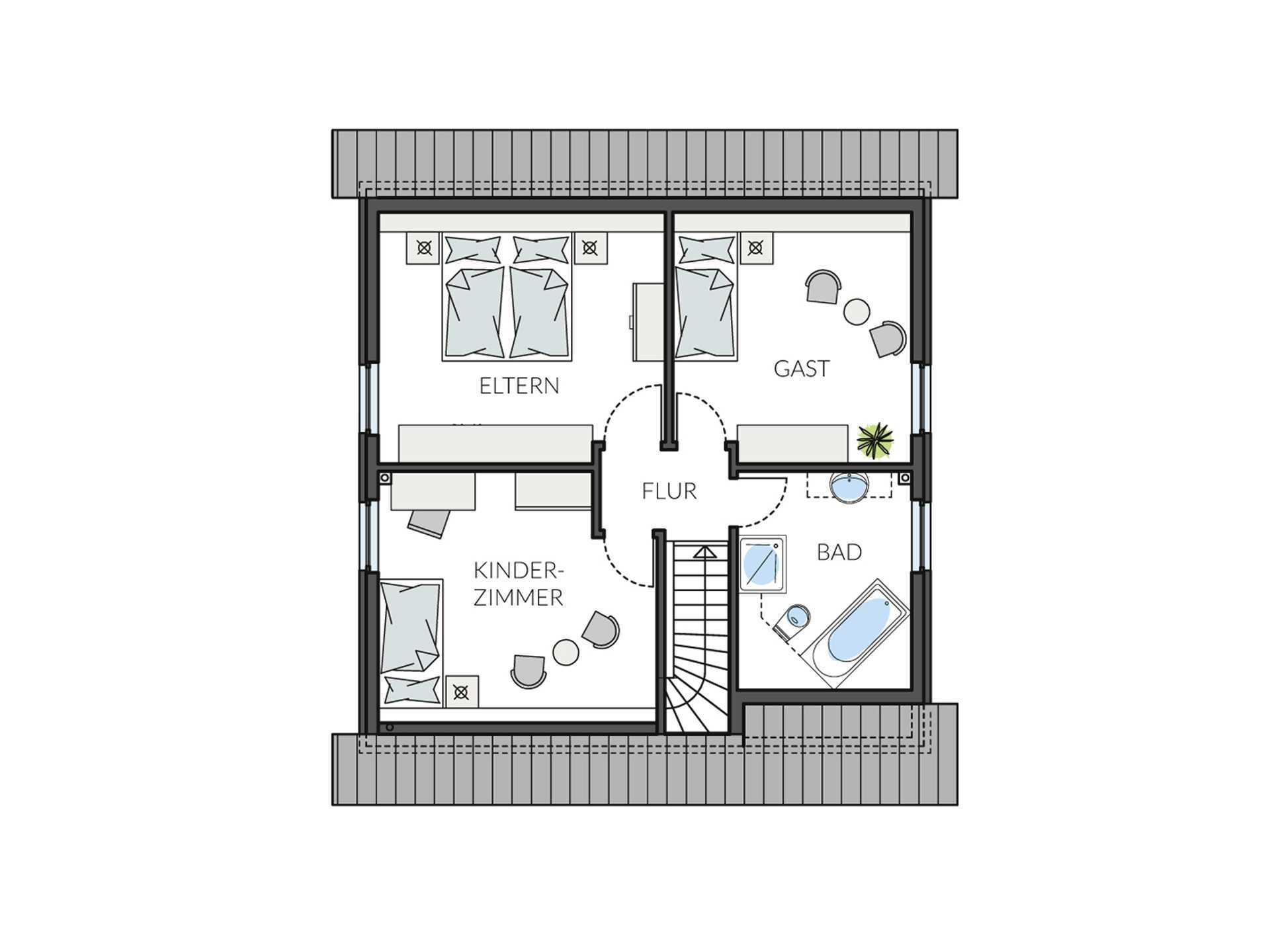 Haus BasicLine 153-1-1 Grundriss DG