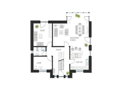 Haus ProArt 182 Grundriss EG