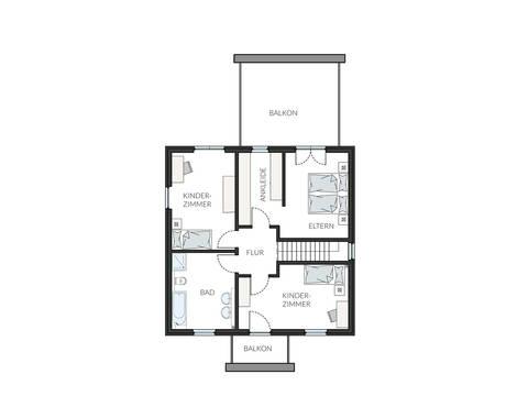 Grundriss Dachgeschoss ProCubus 142 von ProHaus