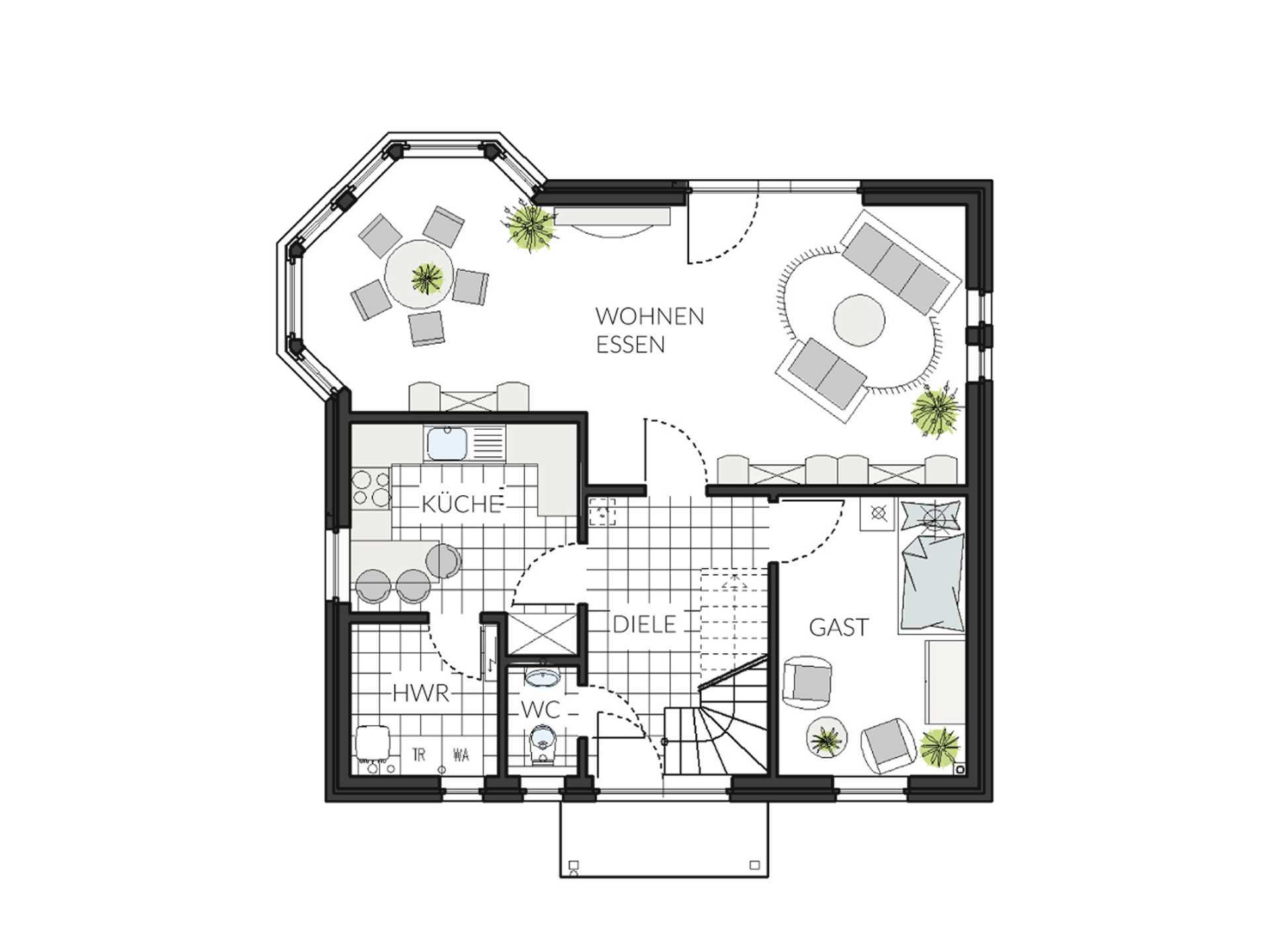 Einfamilienhaus ProFamily 137 Grundriss EG