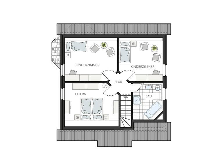 Doppelhaus ProGeneration 130 Grundriss DG