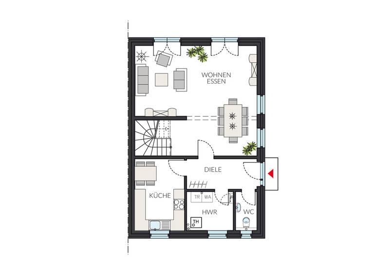 Doppelhaus ProGeneration 194 Grundriss EG