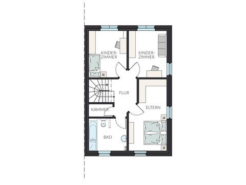 Doppelhaus ProGeneration 194 Grundriss OG