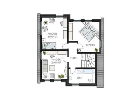 Pultdachhaus ProStyle 132 Grundriss DG