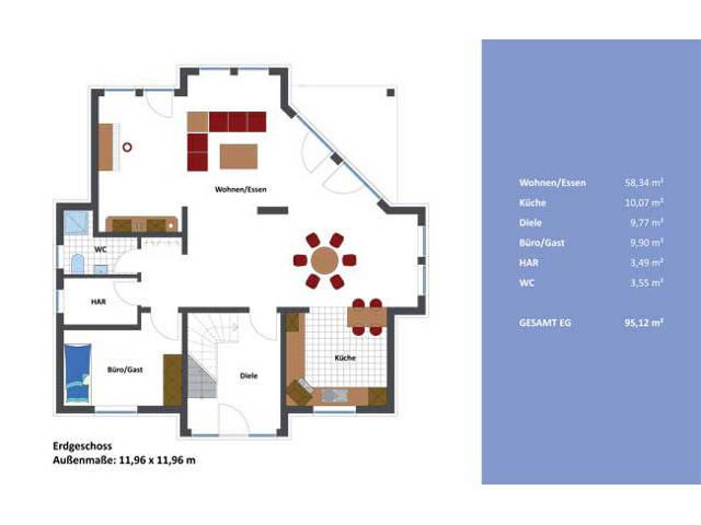 Haus Kiel Grundriss Erdgeschoss