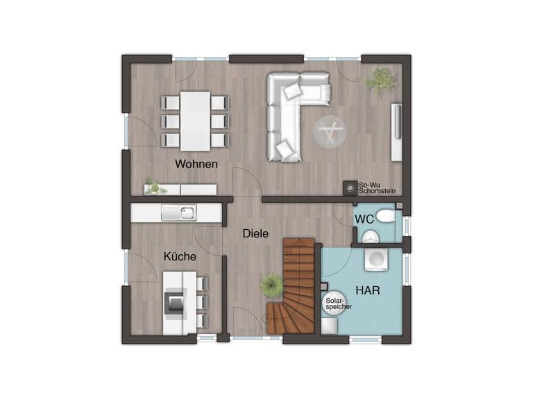 Flair 124 Grundriss Erdgeschoss