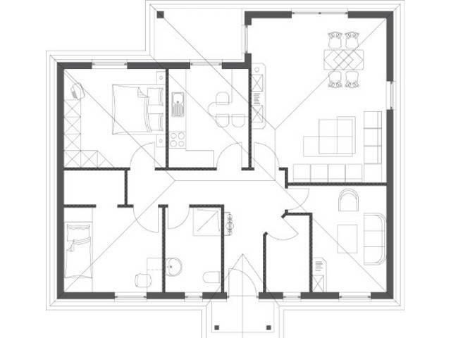 Bungalow Comfort Grundriss Erdgeschoss