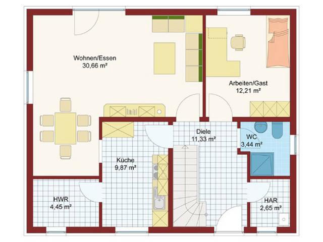 Haus Soleil Grundriss Erdgeschoss