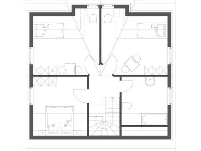 Haus Elegance Grundriss Dachgeschoss