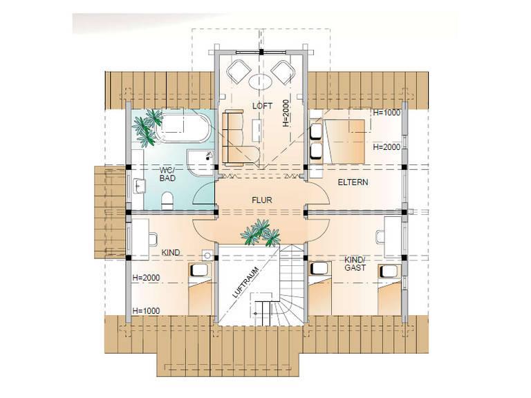 Aesculus Grundriss Dachgeschoss