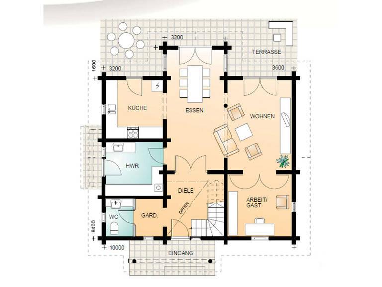 Aesculus Grundriss Erdgeschoss