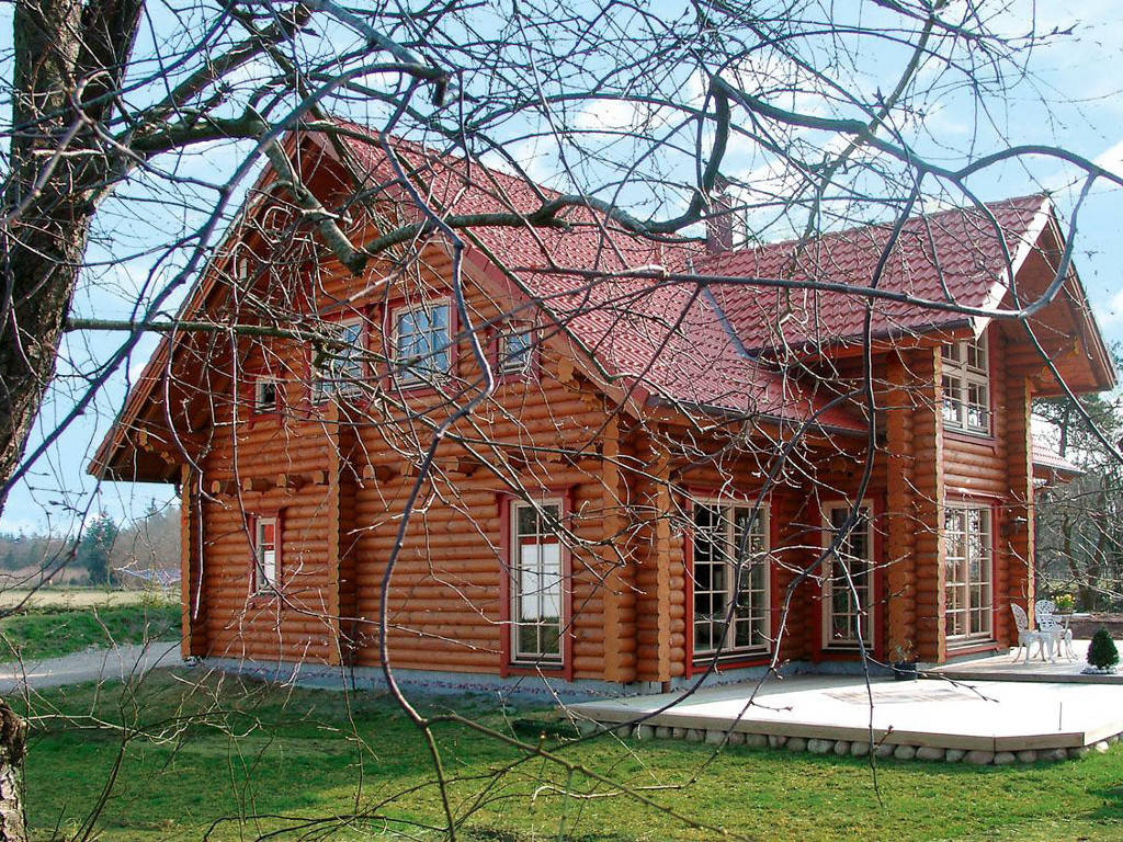 Terrassenansicht Aesculus von Woody-Holzhaus