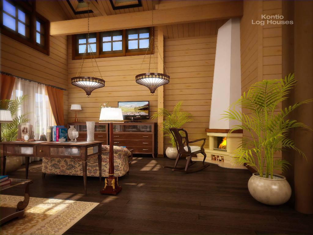 Haus Alliaria mit Kamin von Woody-Holzhaus