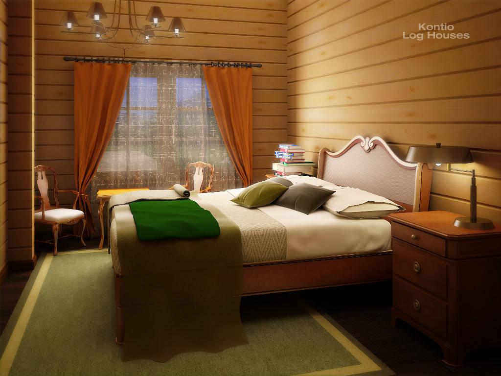 Schlafzimmer des Haus Alliaria von Woody-Holzhaus