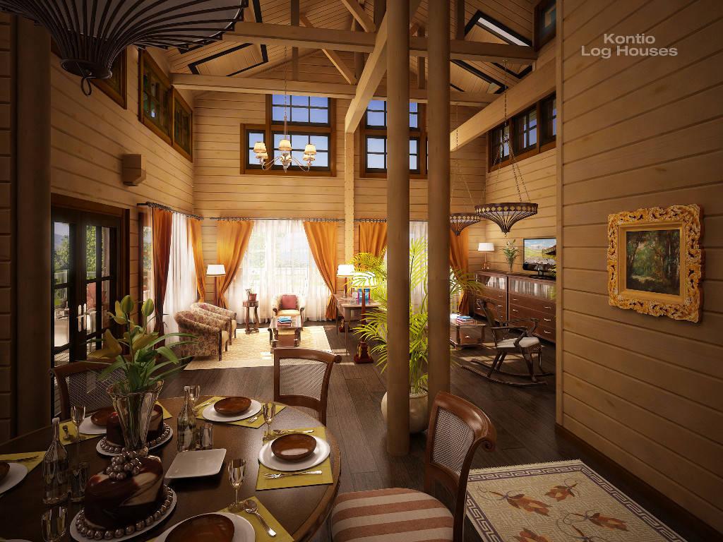 Wohnzimmer des Haus Alliaria von Woody-Holzhaus