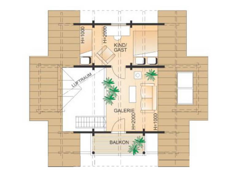 Haus Cornus Grundriss Dachgeschoss