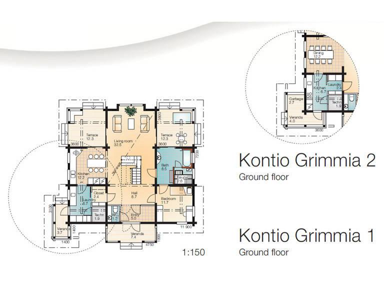 Haus Grimmia 1-2 Grundriss Erdgeschoss