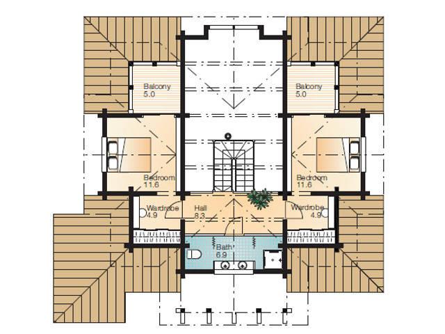 Haus Grimmia 1-2 Grundriss Dachgeschoss