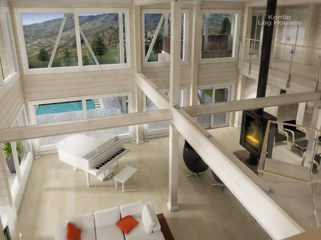 Laminaria 3 von Woody-Holzhaus mit Balkon