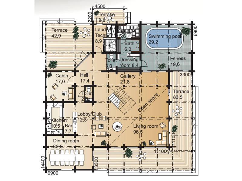 Laminaria 3 Grundriss Erdgeschoss