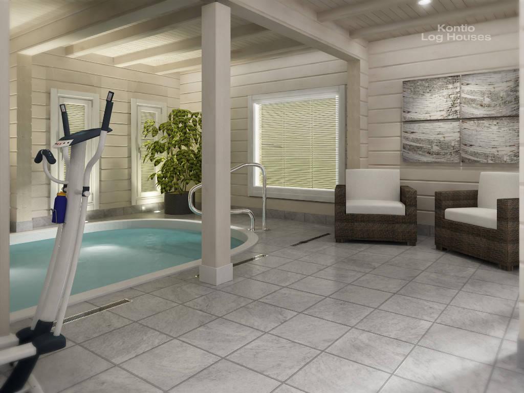 Laminaria 3 von Woody-Holzhaus mit Pool