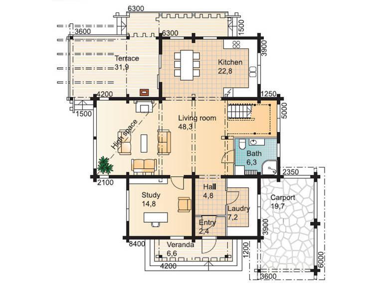 River House 2 Grundriss Erdgeschoss