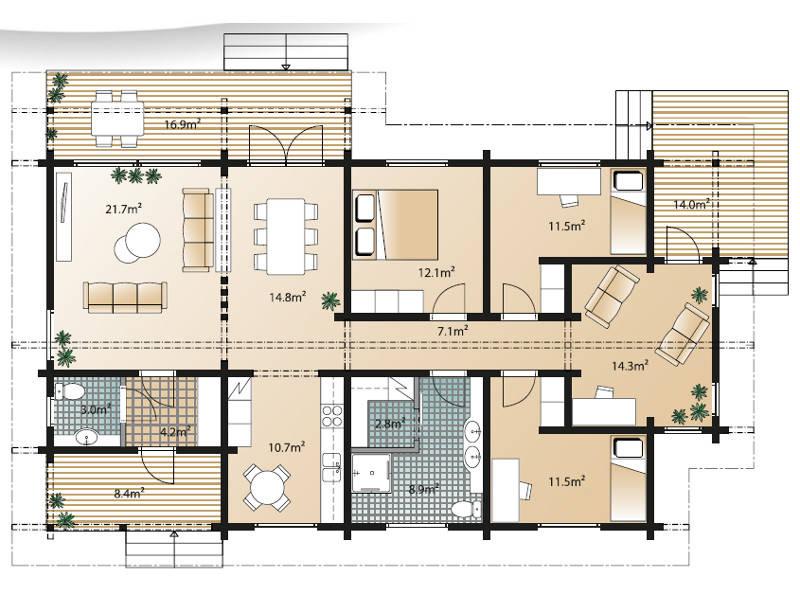 Sensus Ago 123 Grundriss Erdgeschoss