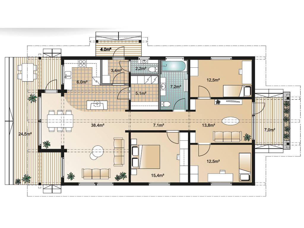 Sensus LEO 123 Grundriss Erdgeschoss