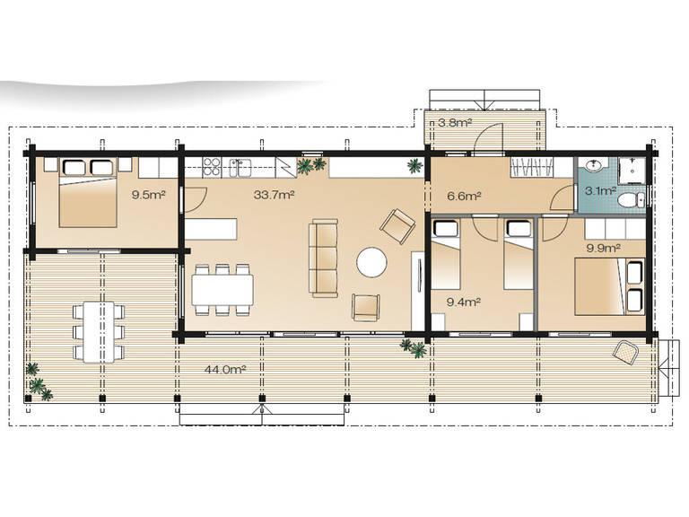 Serenus Mhy 72 Grundriss Erdgeschoss Variante A