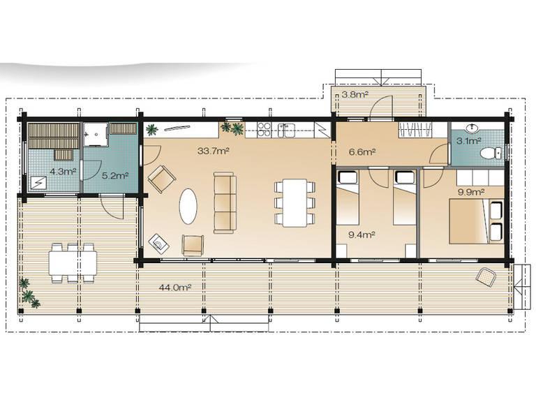 Serenus Mhy 72 Grundriss Erdgeschoss Variante B