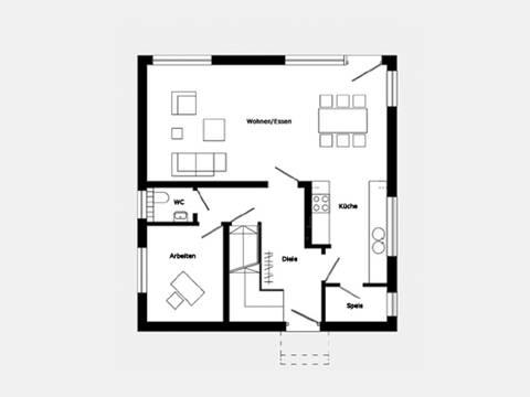 Grundriss Erdgeschoss Trendhaus E 15-114.1