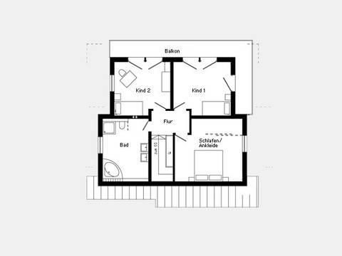Kundenhaus Plan 417.12 Grundriss DG
