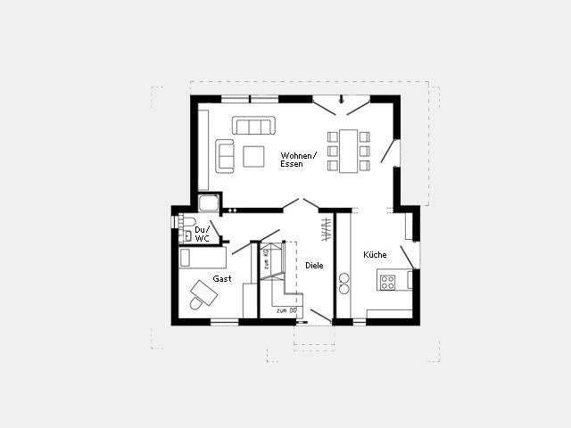 Kundenhaus Plan 417.12 Grundriss EG