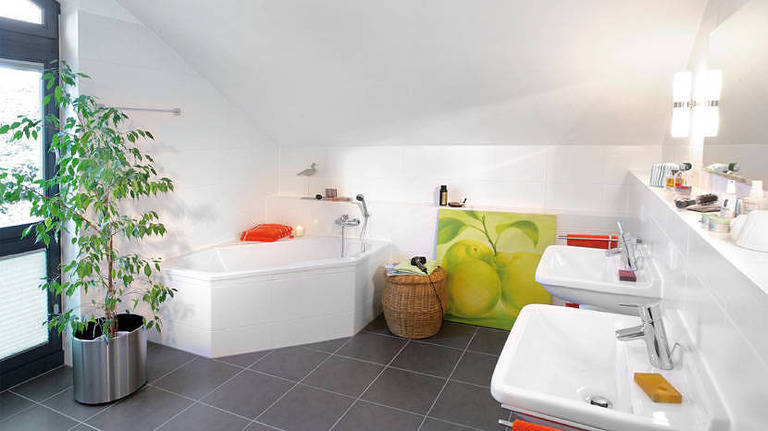 Kundenhaus Plan 417.12 Badezimmer